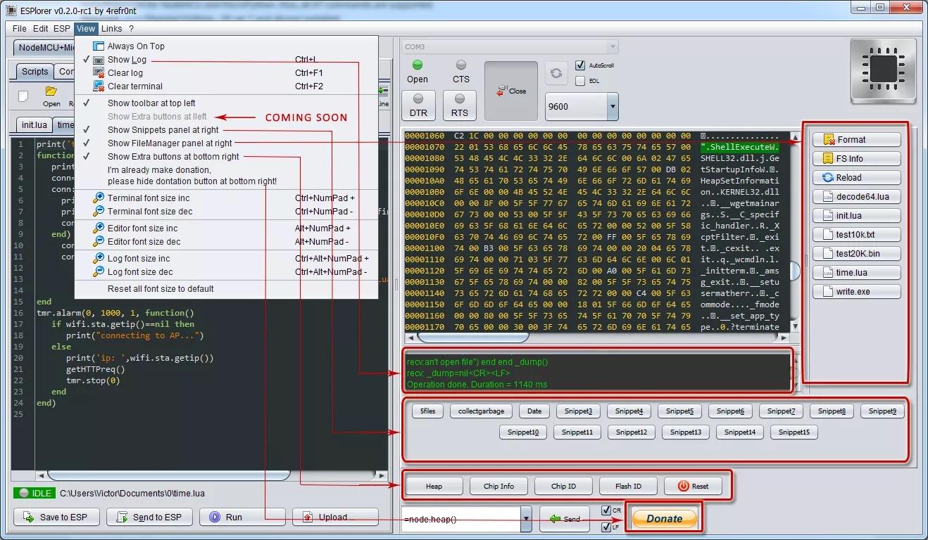 Uploading code - NodeMCU Documentation
